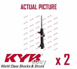 2 x FRONT AXLE SHOCK ABSORBERS PAIR STRUTS SHOCKERS KYB OE QUALITY 333383