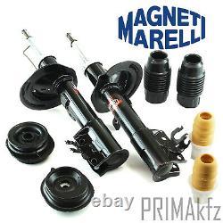 2x M. MARELLI Stoßdämpfer vorne Domlager Anschlagpuffer Fiat Panda II 169 Gas