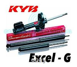 2x NEW KYB FRONT EXCEL-G Gas SHOCK ABSORBERS Part No. 363001