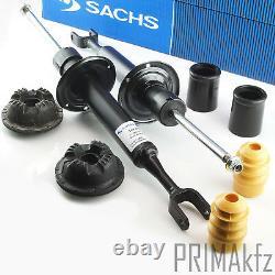 2x SACHS Stoßdämpfer vorne + Domlager Staubmanschette für Audi A4 B6 B7