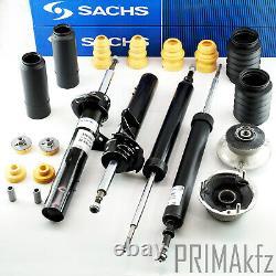 4x Sachs Shock Absorber + Strut Mount + Buffer BMW 1er E81 E82 E88 E90 E91