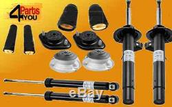 4x Sachs Shock Absorbers Set Top Mounts Covers Dampers Bmw E46 316-320
