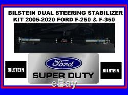 Bilstein 5100 Dual Steering Stabilizers For 05-20 Ford F-250 F-350 Super Duty