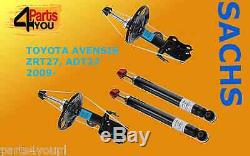 SACHS 4x Front Rear Shock Absorbers DAMPERS TOYOTA AVENSIS 2009