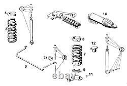 Satz Stoßdämpfer Hinterachse für Mercedes W108 250S SE 280S SE 3.5 300SE 2 Stück