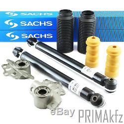 2 Sachs 313571 Stoßdämpfer + Staubschutzsatz Federbeinstützlager Opel Corsa D S07