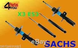 Sachs Choc 4x Avant Arrière Bmw E53 Absorbeurs Registres X5 4.4 3.0d 2000-2006